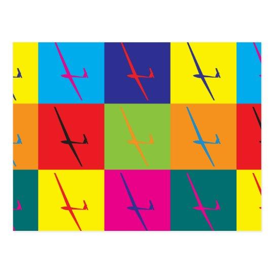 Gliding Pop Art Postcard