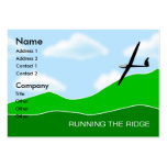 Gliding - Running the Ridge Gliding Chubby Business Card Templates
