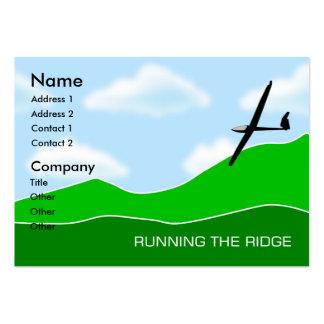 Gliding - Running the Ridge Gliding Chubby Business Card Templates