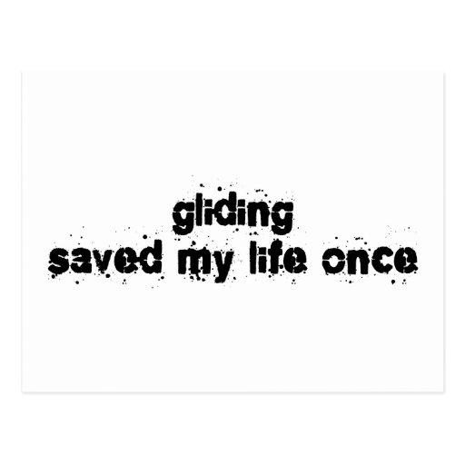 Gliding Saved My Life Once Postcard
