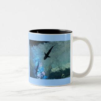 Gliding Sharks Two-Tone Coffee Mug