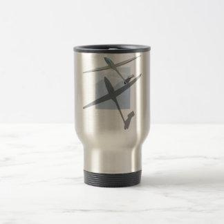 Gliding travel mug