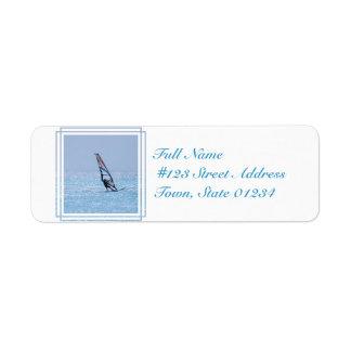 Gliding Windsurfer Return Address Label