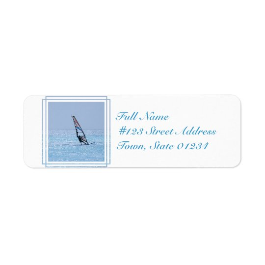 Gliding Windsurfer Label