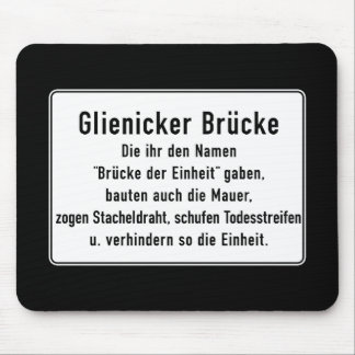 Glienicker Brücke, Berlin Wall, Germany Sign Mouse Pad