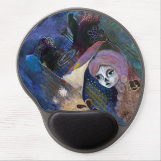 """""""Glimmer"""" gel mouse pad, Dia de Los Muertos Gel Mouse Pad"""