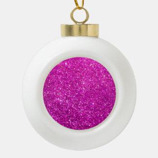Glimmer Purple Shiny Ceramic Ball Christmas Ornament