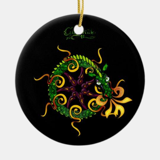 Glimmericks Dragon Ceramic Ornament
