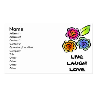 Glimmericks Floral 3 Business Cards