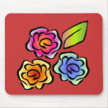 Glimmericks Floral 3 Red Mouse Pads