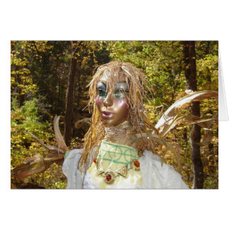Glimmering Corn Queen Greeting Card