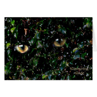 Glimmering Eyes in Glade Card