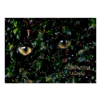 Glimmering Eyes in Glade Poster