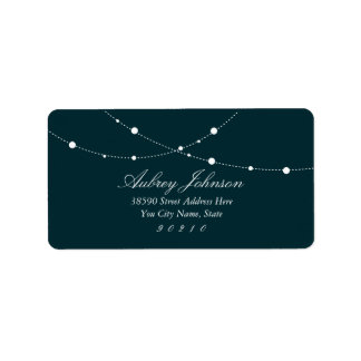 Glimmering Lights Address Labels