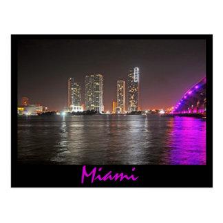 Glimmering Miami, Florida Postcard