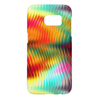 Glimmering Rainbow Rippled Glass Samsung Galaxy S7 Case