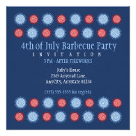 Glimmering Stars Fourth of July Party Invitations