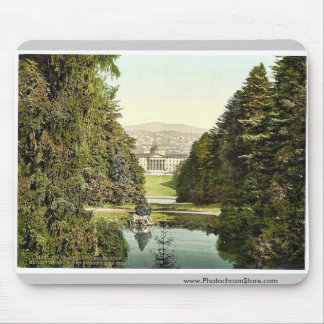 Glimpse of castle and city from Holle, Wilhelmshoh Mousepads