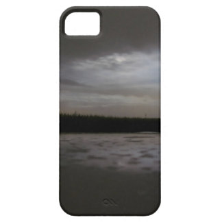 Glimpse of moon in a cloudy night iPhone SE/5/5s case