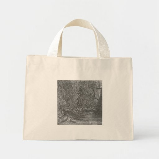 Glimpses of the Animate World - Alligators in Flor Canvas Bags