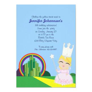 Glinda de la invitación de la FIESTA de CUMPLEAÑOS Invitación 12,7 X 17,8 Cm