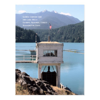 Glines Canyon Dam, Lake Mills, Washington Postcard