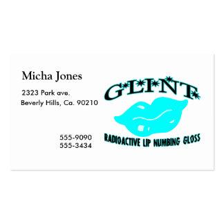 Glint Radioactive Gloss Business Cards
