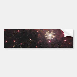Glinting Sparks Car Bumper Sticker