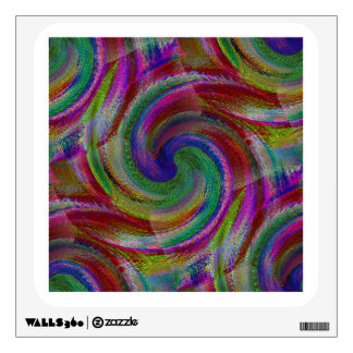 Glistening colors of old school hard candy wall decal