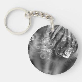 Glistening Crocuses Single-Sided Round Acrylic Keychain
