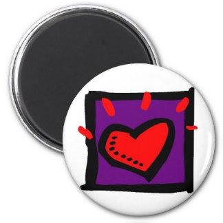 Glistening Heart Magnet