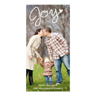 Glistening Joy Vertical Holiday Photo Card