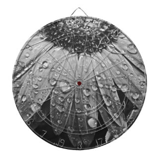 Glistening Rain Drops on Daisy Flower Dart Board