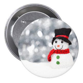 Glistening Snowman Button
