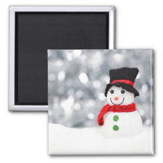Glistening Snowman Magnet
