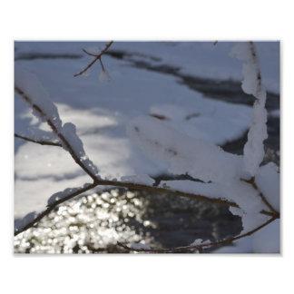 GLISTENING WINTER CREEK PHOTO PRINT