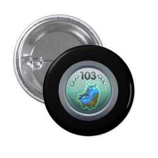 Glitch: achievement advanced larva lover pinback button