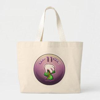 Glitch: achievement amateur bean tree fondler large tote bag