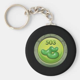 Glitch: achievement bean counter basic round button keychain