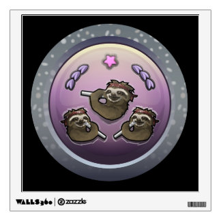 Glitch: achievement circle crunch wall decal