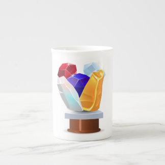 Glitch: achievement collection gems bone china mugs
