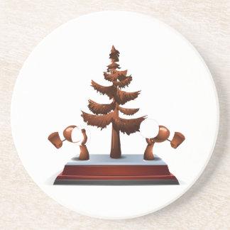 Glitch: achievement collection street creator wood sandstone coaster