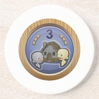 Glitch: achievement crowded house sandstone coaster