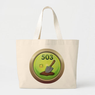 Glitch: achievement dirt diggler large tote bag