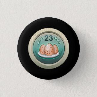 Glitch: achievement eggy wegger pinback button
