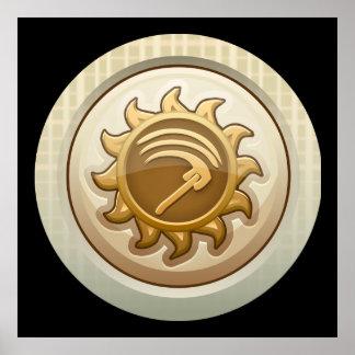 Glitch: achievement first mab emblem poster