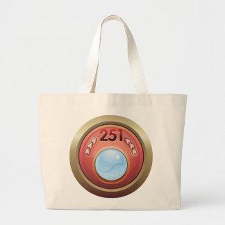 Glitch: achievement full time swami large tote bag