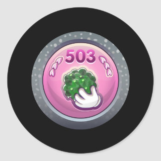 Glitch: achievement glop grappler classic round sticker