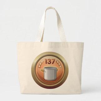 Glitch: achievement golden ladle award large tote bag