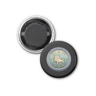 Glitch: achievement honourable chairperson 1 inch round magnet